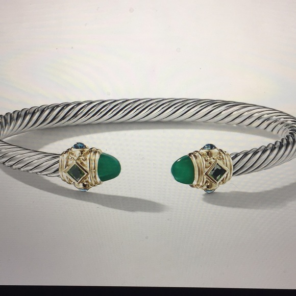a817db47f07a8 Renaissance Bracelet with Green Onyx & Blue Topaz